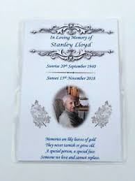 Funeral Remembrance Cards Details About 20 X Personalised A6 Funeral Memorial Remembrance Keepsake Cards Seeds M4