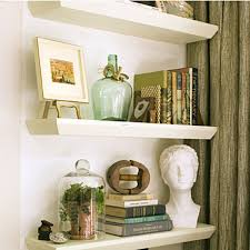 How To Decorate Floating Shelves In Living Room
