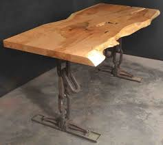 Natural edge furniture Woodworking Beautiful Figured Maple Desk Natural Edge Furniture Custom Salvaged Hardwood Furniture Gallery Natural Edge Furniture