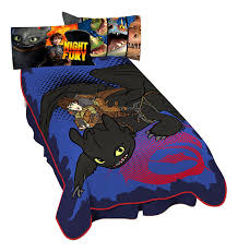 how to train your dragon throw and pillow set