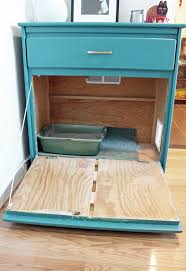 diy vintage dresser into a cat litter box cover via unusuallylovely com