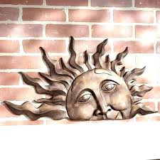 amazing decorative outdoor sun plaques face wall decor on terracotta dec