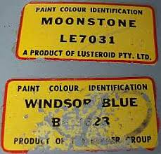 Hillman Car Club Of South Australia Paint Codes For Rootes