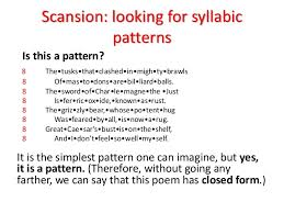 Poem Patterns Extraordinary Scanning Poems Ppt
