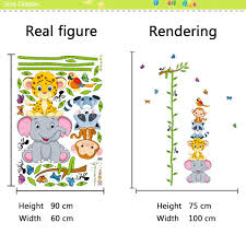 Monkey Growth Chart Wall Livegallery Cartton Tree Branches Vines Height Chart