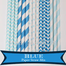 Light Blue Chevron Paper Napkins Us 10 68 11 Off 125pcs Mix Colors Blue Party Paper Straws Light Blue Striped Chevron Swiss Dot Blue Stripe Zig Zag Birthday Boy Baby Shower Bulk In