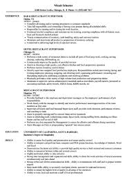 Sample Help Desk Supervisor Resume Restaurant Resume Samples Restaurant Supervisor Resume Samples