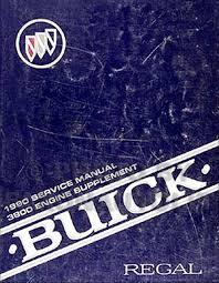 buick regal engine repair shop manual original supplement 1990 buick regal 3800 engine shop manual original supplement