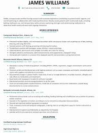 Cna Resume Format Awesome Cna Resume Sample With No Experience
