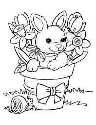 Easter Bunny Coloring Pages Printable Prints By The Paper Hare Print