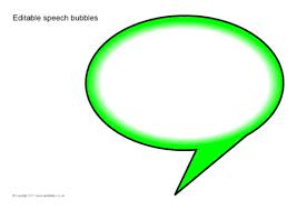 Word Bubble Templates Editable Speech Bubbles Sb5224 Sparklebox