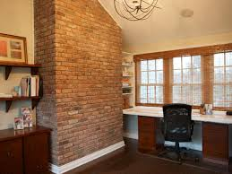 brick office furniture. A Brick Wall Gives This Home Office Character While The Number Of Windows And Amount Furniture F