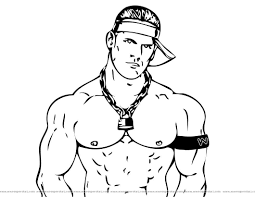 Coloring Book Wwe Pages Free Wwe Dwayne The Rock Johnson Page