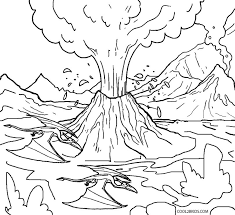 Printable Volcano Coloring Pages For Kids   Cool2bKids   Artsy ...