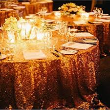 for 156 round gold sequin tablecloth whole wedding beautiful sequin table cloth overlay cover rectangle tablecloth dining table