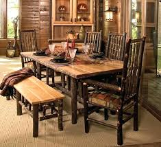 rustic dining room sets rustic dining room table with bench new picture of throughout furniture designs