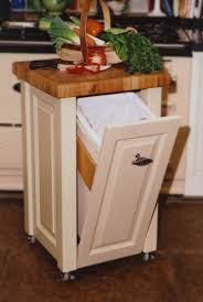 Kitchen, Black Wooden Kitchen Trash Bin. Painted Trash Can In Kitchen 2 For  Beautiful