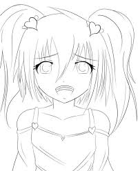 Small Picture coloring pages draw an anime girl coloring pages coloring and