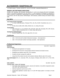 Json Resume Sample Resume For net Developer With 100 Year Experience Copy Net 59
