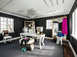 eclectic design home office. Fashion Blogger Designer Chanel Hermes Prada Gucci Wall Decals Transitional Black And White Home Office Inspiration Eclectic Design