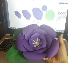 Giant Paper Flower Svg Free Cricut Design Space Canvas With Cut Files To Make This Giant