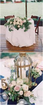 navy and blush wedding centerpieces