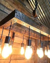 reclaimed wood beam chandelier with globes cathedral ceiling