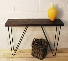 industrial wood furniture. Modren Industrial Industrial Wood And Steel Console Table Intended Furniture