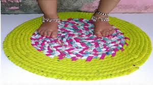 How to make doormat with old clothes | How to make doormats at ...