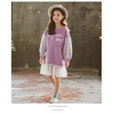 Đầm bé gái 11 tuổi (3-12 tuổi) ☑️ Đầm váy dài tay thời trang hàn quốc xinh  xắn cho bé