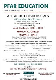 Car Disclosure Chart Pasadena Foothills Association Of Realtors All About