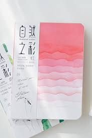 kawaii drawing paper note book natural color rainbow 13cm x 18cm