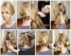 Прическа на длинные волосы с челкой быстро