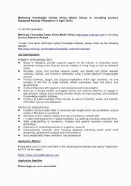 Sample Resume Letter For Job Application Fresh 10 New Good Cover
