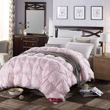 3d design white pink color natural 90 duck down comforter 500fp light warm queen king size quilt high quality grade a bedhome in comforters duvets from