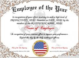 Employee Of The Month Certificate Templates Employee Month Certificate Template Of The Year Free Drabble Info