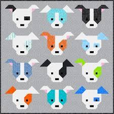 Dog Quilt Patterns Amazing Dog Gone Cute Quilt Pattern PDF Instant Download Modern Etsy