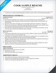 Line Cook Resume Examples From Resume Objective Examples For
