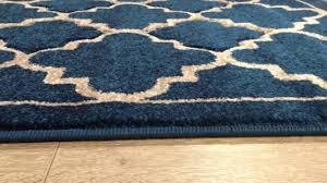 in house designed havana trellis teal rug