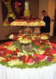 fruit table wedding reception ideas