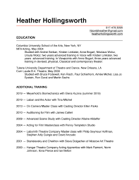 Casting Director Resume Website Resume By Hbombheather Issuu