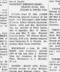 James Francis Lyons (brother of Mrs P Spaight) death 1940 - Newspapers.com