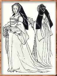 Английский женский костюм xv xvi века История одежды от  английская женская одежда