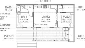 floor plan. Modern Style House Plan - 1 Beds 1.00 Baths 640 Sq/Ft #449 Floor