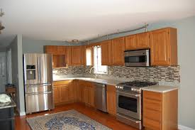 oak kitchen cabinets and wood floors luxury wall color ideas
