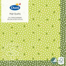 Купить <b>Салфетки бумажные Duni</b> Rice Green 3 слоя 24*24см ...