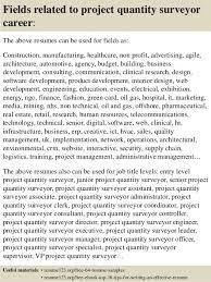 16 fields related to project quantity surveyor quantity surveyor resume