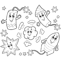 Small Picture Independence Day Coloring Pages Surfnetkids