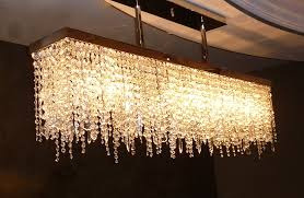image of rectangular chandelier narrow