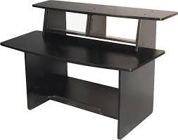omnirax presto av desk black zoom